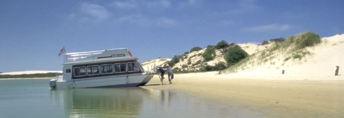 Secluded shores along the Coorong.